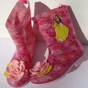 SIZE 12.Disney princess waterproof PVS Rain Boots.